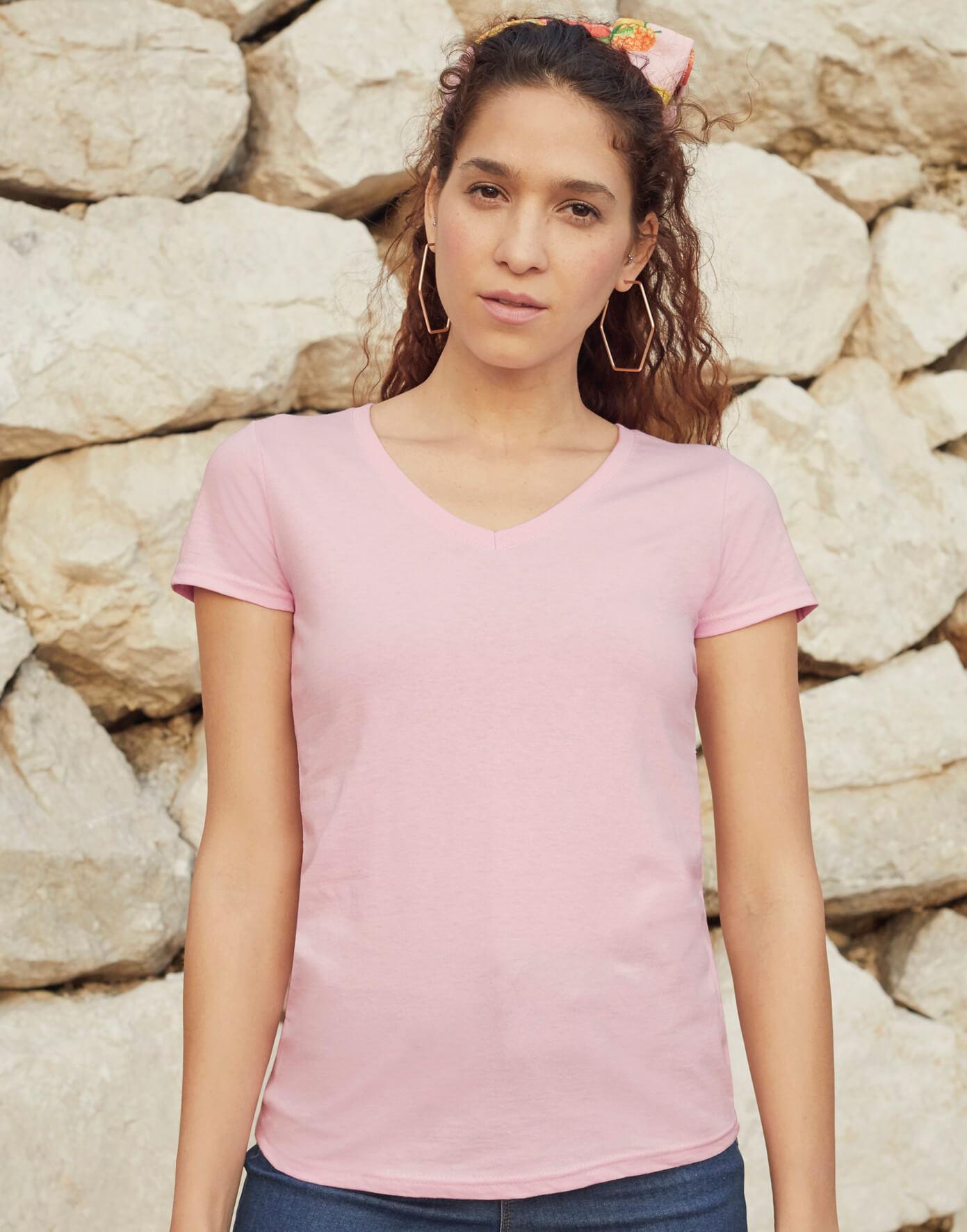 61-398-0 Dámske tričko V-neck