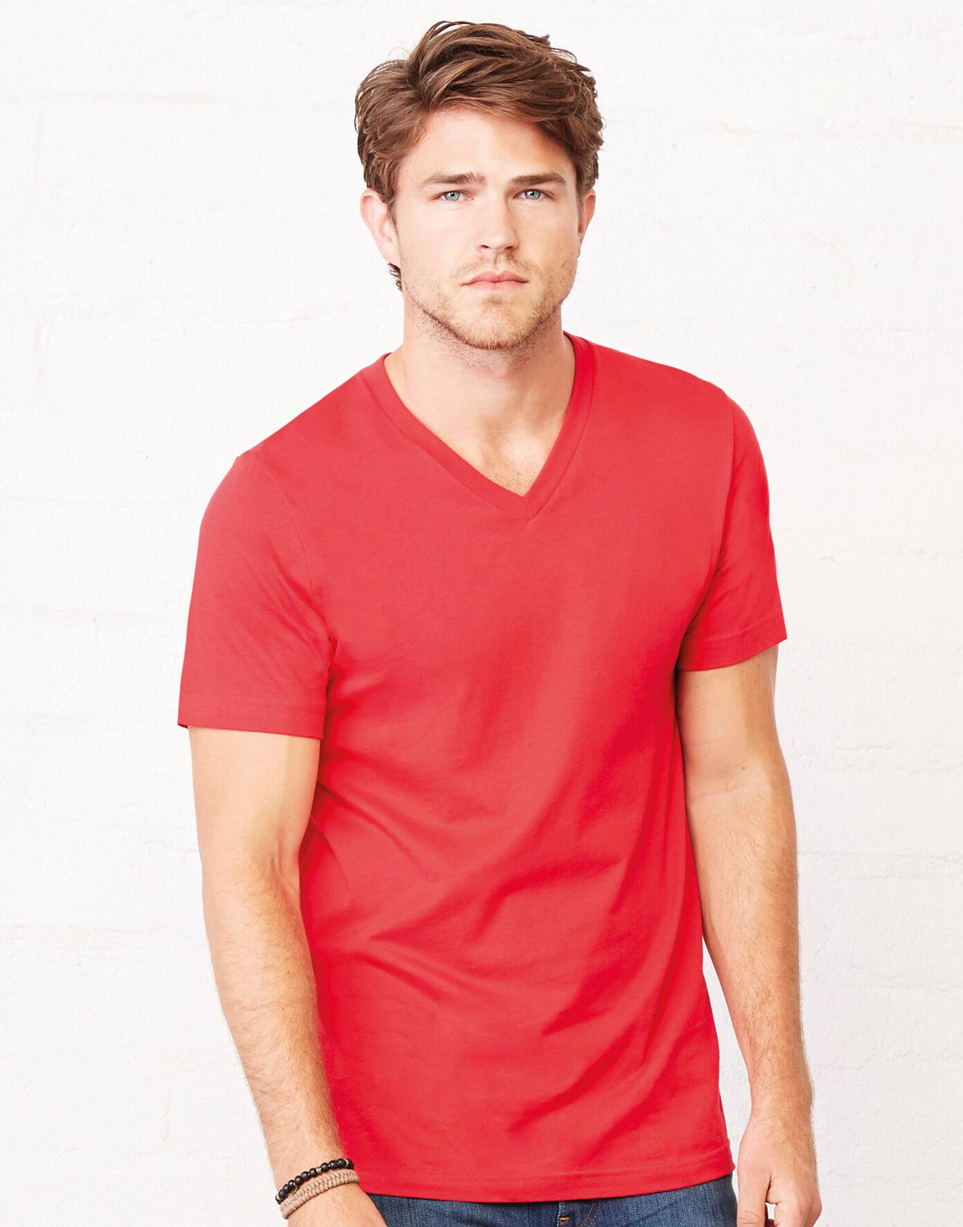 3005 Unisex tričko Jersey V-Neck