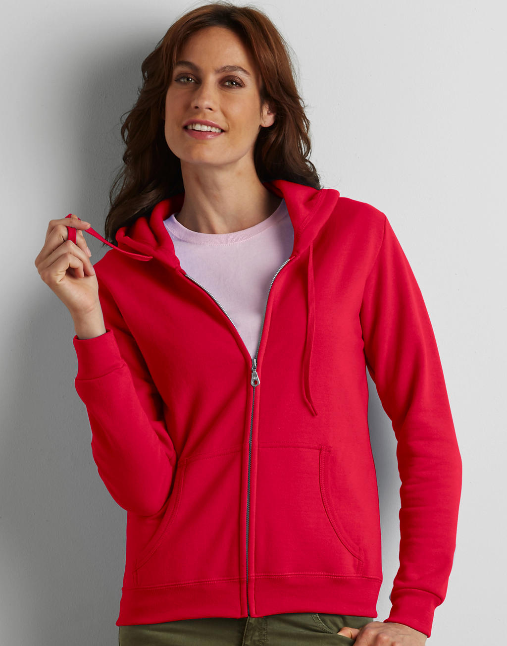 18600L HEAVY BLEND™ LADIES full zipp hooded mikina