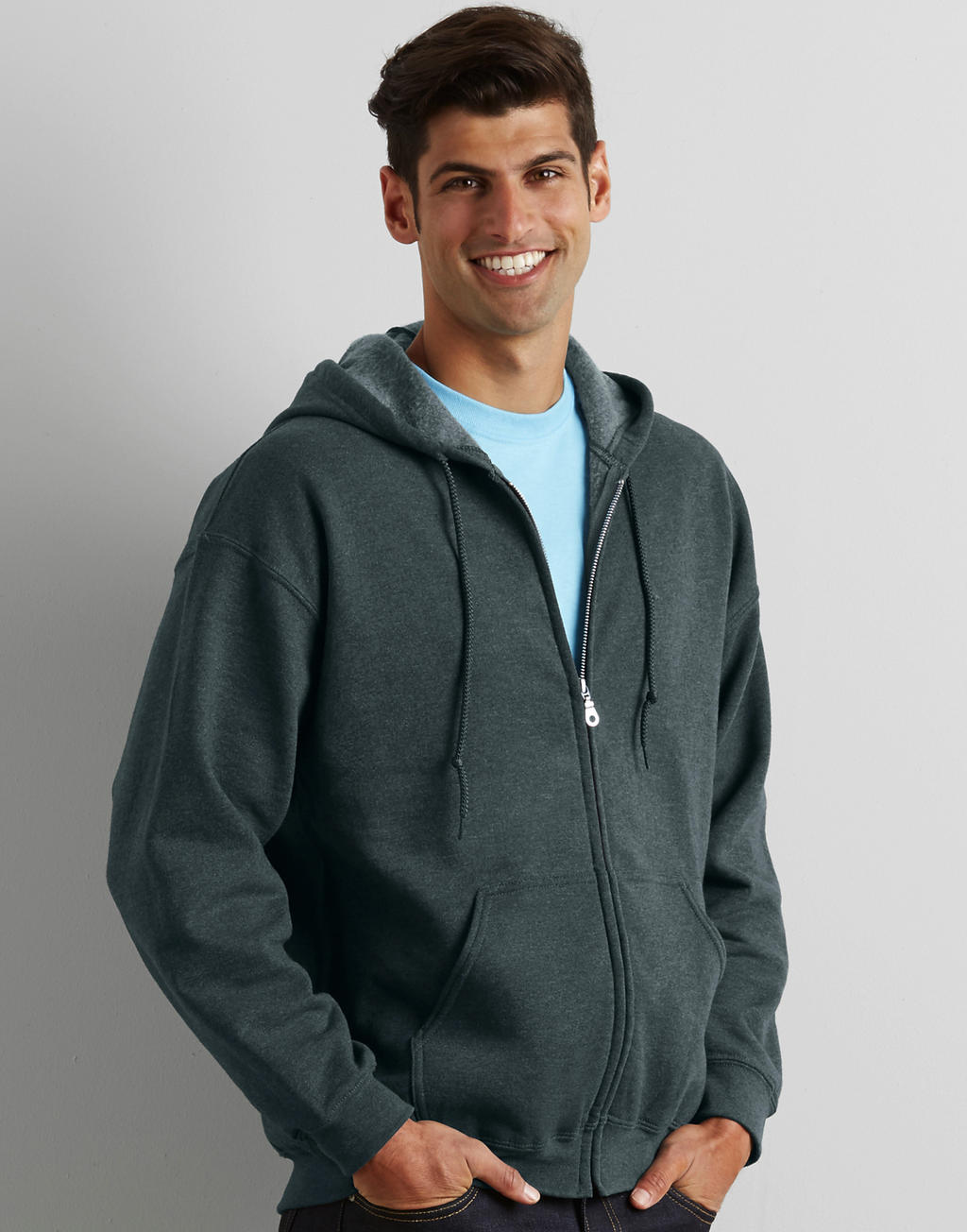 18600 HEAVY BLEND™ ADULT full zip hooded mikina