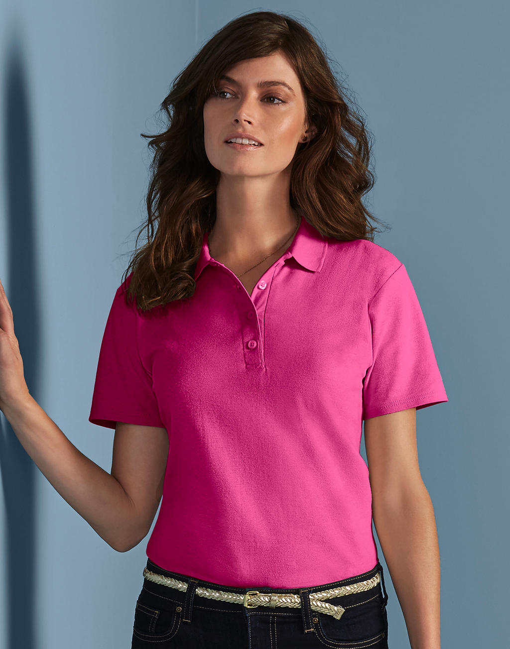 64800L SOFTSTYLE® LADIES DOUBLE PIQUÉ polokošeľa