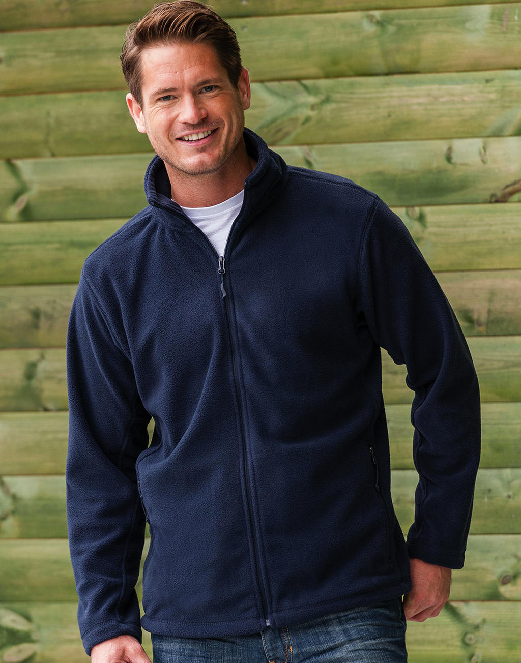 R-870M-0 Pánska fleecová bunda na zips